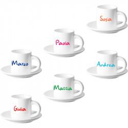 SET DA 6 TAZZINE DA CAFFE'...